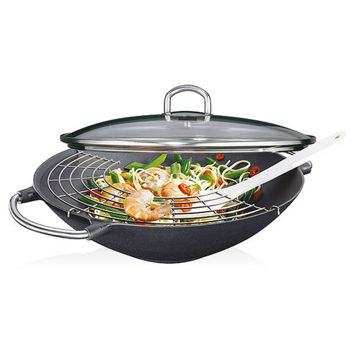 Küchenprofi - PROVENCE - Wok with Glass Lid - Premium