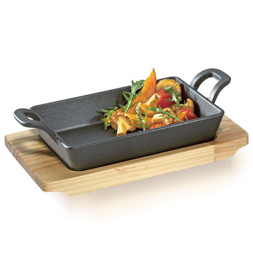 Küchenprofi - BBQ square grill / serving pan wooden board