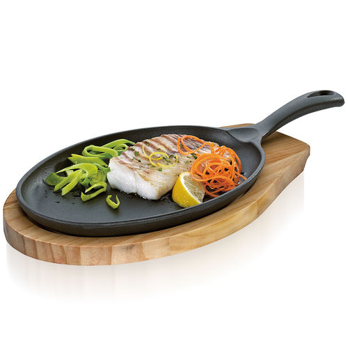 Küchenprofi - BBQ oval grill / serving pan wooden board